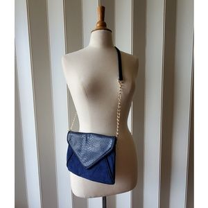Handbags - Faux Blue Alligator Leather Purse